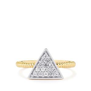 Ratanakiri White Zircon Ring in 10k Gold 0.32cts