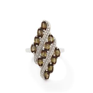 Gouveia Andalusite & Diamond Sterling Silver Ring ATGW 2.72cts