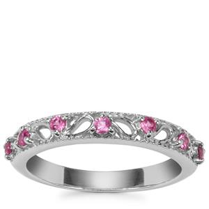 Sakaraha Pink Sapphire Ring in Sterling Silver 0.28ct