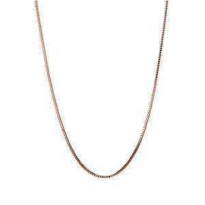 "18"" 10K Rose Gold Couture Box Venetian Chain 0.92g"