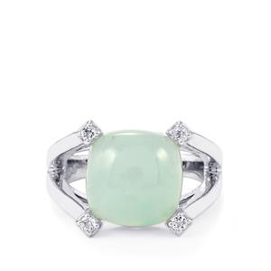 Aquaprase™ Ring with White Topaz in Sterling Silver 7.42cts