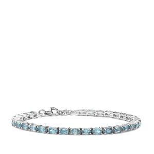9.93ct Ratanakiri Blue Zircon Sterling Silver Bracelet