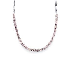 Rose De France Amethyst Necklace in Sterling Silver 17.40cts