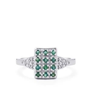 Orissa Alexandrite Ring with Diamond in Sterling Silver 0.38cts