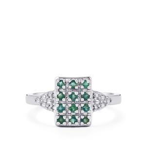 Orissa Alexandrite & Diamond Sterling Silver Ring ATGW 0.38cts