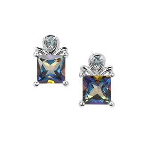 Mystic Blue & Marambaia London BlueTopaz Sterling Silver Earrings ATGW 2.76cts
