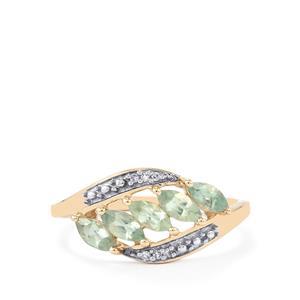 Alexandrite & Diamond 9K Gold Ring ATGW 0.73cts