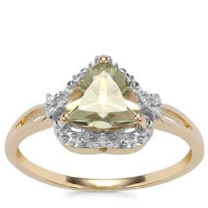 Csarite® Ring with Diamond in 10k Gold 1.28cts