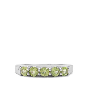0.98ct Red Dragon Peridot Sterling Silver Ring