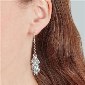 Sky Blue Topaz Earrings in Sterling Silver 20.40cts