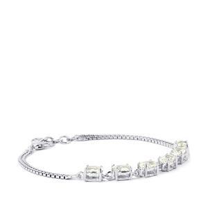 3.82ct Itinga Petalite Sterling Silver Bracelet