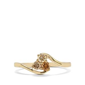 Natural Coloured Diamond Ring in 10K Gold 0.33ct