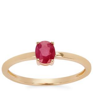 0.45ct Montepuez Ruby 9K Gold Ring