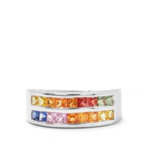 1.62ct Rainbow Sapphire Sterling Silver Ring