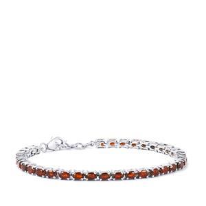 10.96ct Nampula Garnet Sterling Silver Bracelet