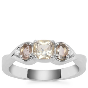 Serenite Ring with White Zircon in Sterling Silver 0.91ct