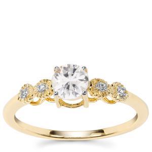 Singida Tanzanian Zircon Ring with White Zircon in 9K Gold 0.73ct
