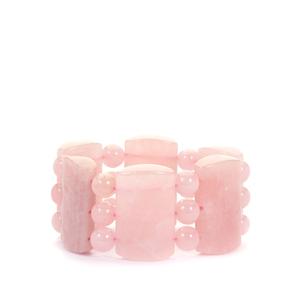 Rose Quartz Stretchable Bracelet 690cts