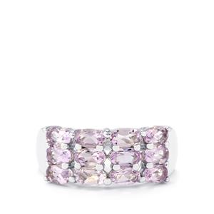 2.50ct Rose De France Amethyst Sterling Silver Ring