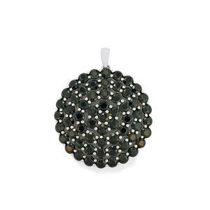 14.64ct Black Spinel Sterling Silver Pendant