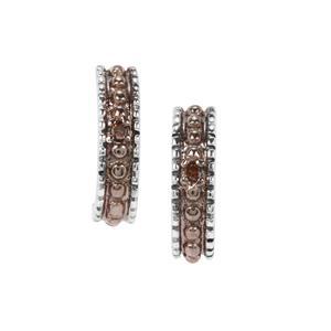 Champagne Diamond Earrings in Sterling Silver