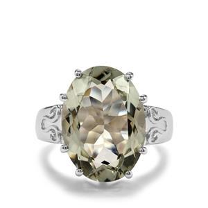 11.16ct Prasiolite Sterling Silver Ring
