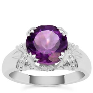 Zambian Amethyst Ring in Sterling Silver 3.25cts