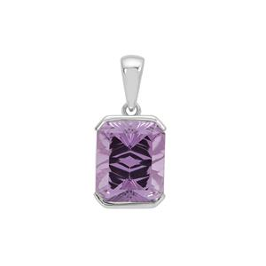 Sahl Cut Amethyst Pendant in Sterling Silver 6cts