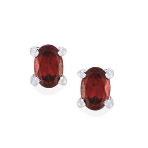 Rhodolite Garnet Earrings in Sterling Silver 1.14cts