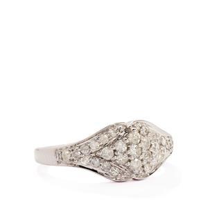 1/2ct Diamond 9K White Gold Tomas Rae Ring