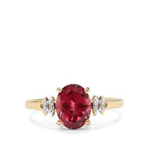 Mahenge Garnet & Diamond 9K Gold Ring ATGW 2.59cts