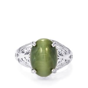 Cat's Eye Ring in Sterling Silver 8.51cts