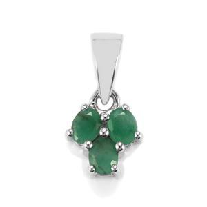 0.55ct Carnaiba Brazilian Emerald Sterling Silver Pendant