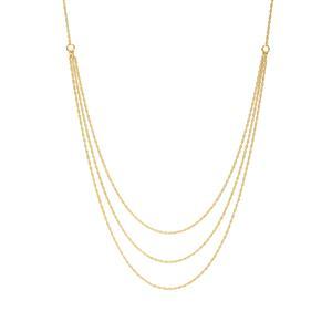 "20"" Midas Altro Graduate Cordino Slider Necklace 3.80g"