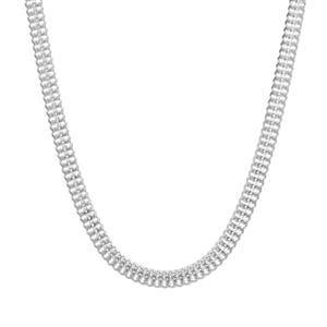 "20"" Sterling Silver Diamond Cut Arrow Chain 3.14g"