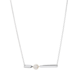 Kaori Cultured Pearl Sterling Silver Necklace (6mm)