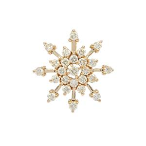 1.10ct Fancy Diamond 18K Gold Tomas Rae Pendant