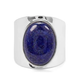 10ct Sar-i-Sang Lapis Lazuli Sterling Silver Aryonna Cuff Ring