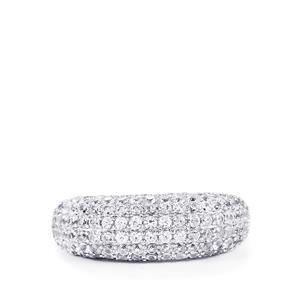 White Zircon Ring in Sterling Silver 2.68cts