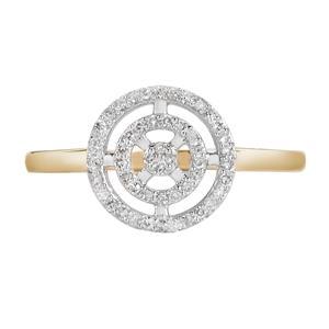1/8ct Diamond 9k Gold Ring