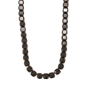 Iconic Black Spinel Necklace in Rose Gold Plated Sterling Silver 130cts