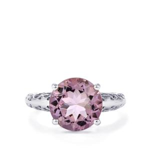 Rose De France Amethyst Ring in Sterling Silver 5cts