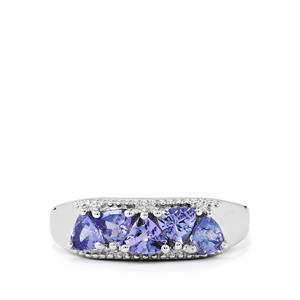 1.11ct Tanzanite Sterling Silver Ring
