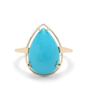 Sleeping Beauty Turquoise Ring in 9K Gold 6.15cts