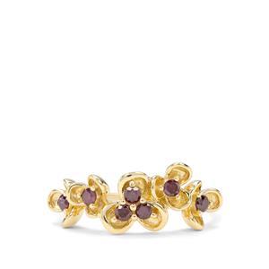 1/4ct Purple Diamond 9K Gold Ring
