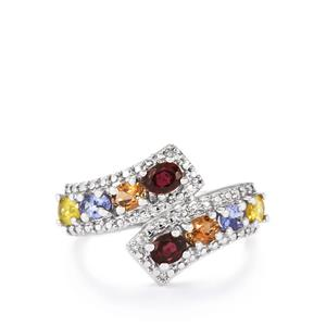 1.63ct Exotic Gems Sterling Silver Ring