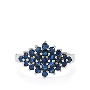 Thai Blue Sapphire Ring in Sterling Silver 1.74cts