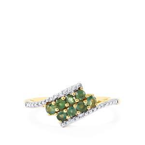 Orissa Alexandrite & Diamond 9K Gold Ring ATGW 0.47cts