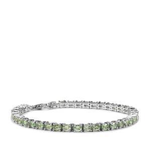 Tsavorite Garnet Bracelet in Sterling Silver 7.30cts