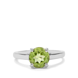 2.11ct Red Dragon Peridot Sterling Silver Ring